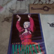 Vídeos y DVD Musicales: VHS MADONNA /CIAO ITALIA. Lote 170210282