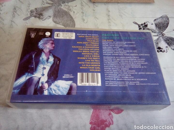 Vídeos y DVD Musicales: VHS MADONNA /CIAO ITALIA - Foto 2 - 170210282