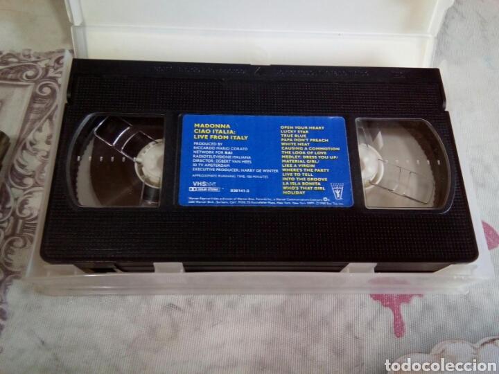 Vídeos y DVD Musicales: VHS MADONNA /CIAO ITALIA - Foto 3 - 170210282