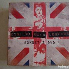 Vídeos y DVD Musicales: CAJA CON 8 DVDS CON LAS LEYENDAS DEL ROCK INGLES. Lote 171352682