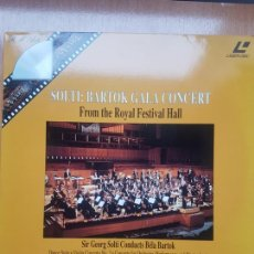 Vídeos y DVD Musicales: LASER DISC - SOLTI: BARTOK GALA CONCERT - FROM THE ROYAL FESTIVAL HALL. Lote 171535312