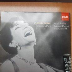 Vídeos y DVD Musicales: LASER DISC - MARIA CALLAS- DEBUTS A PARIS 1958. Lote 171535694