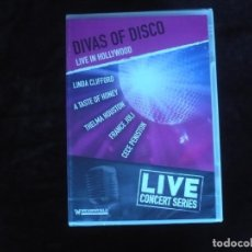 Vídeos y DVD Musicales: DIVAS OF DISCO LIVE IN HOLLYWOOD - DVD NUEVO PRECINTADO. Lote 172013224