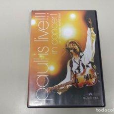 Vídeos e DVD Musicais: J7- PAUL MCCARTNEY IS LIVE IN CONCERT NEW WORLD TOUR DVD VIDEO . Lote 172616217