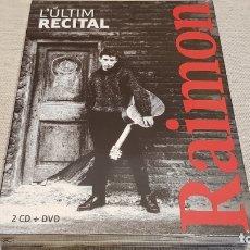 Vídeos y DVD Musicales: RAIMON / L'ÚLTIM RECITAL / 2 CD + DVD / PICAP - 2018 / LIBRETO 4 LENGUAS / PRECINTADO !!!. Lote 172691937