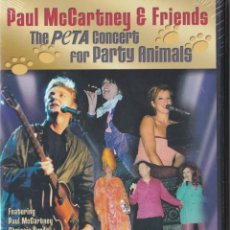 Vídeos y DVD Musicales: PAUL MCCARTNEY AND FRIENDS PETA CONCERT FOR PARTY ANIMALS DVD BEATLES. Lote 173892209