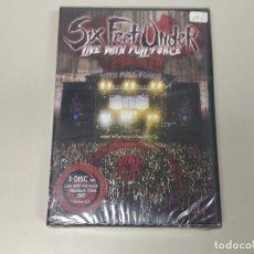 Vídeos y DVD Musicales: JJ8- SIX FEET UNDER LIVE WITH FULL FORCE 2 DVDS + BONUS CD NUEVO PRECINTADO PRECIO LIQUIDACIÓN. Lote 174230897
