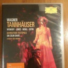 Vídeos y DVD Musicales: WAGNER - TANNHAUSER - COLIN DAVIS. Lote 174448578