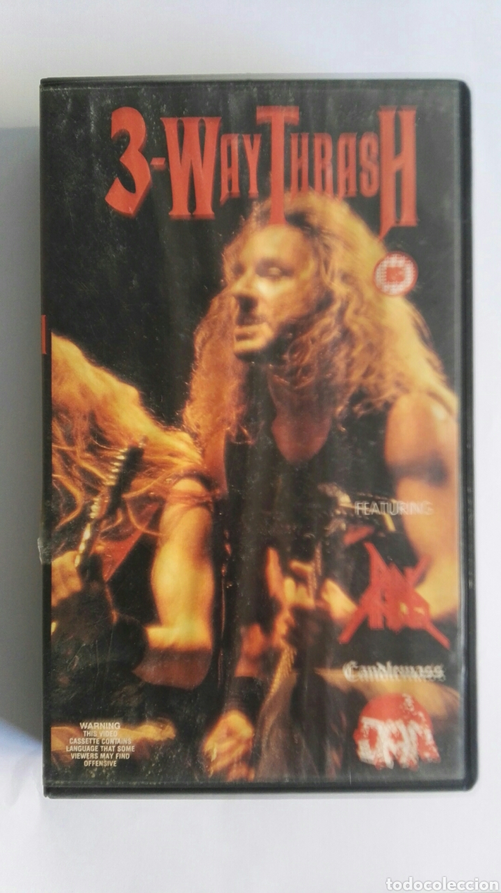 3-WAY THRASH HEAVY METAL VHS (Música - Videos y DVD Musicales)
