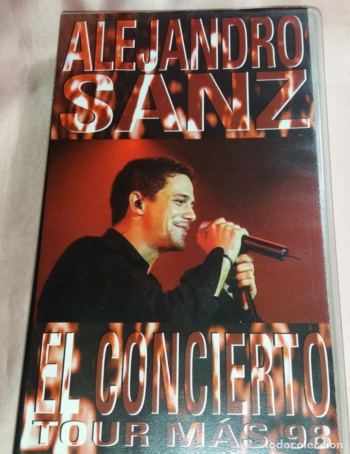 ALEJANDRO SANZ - VIDEO VHS - (CONCIERTO - TOUR 98) VER FOTOS (Música - Videos y DVD Musicales)
