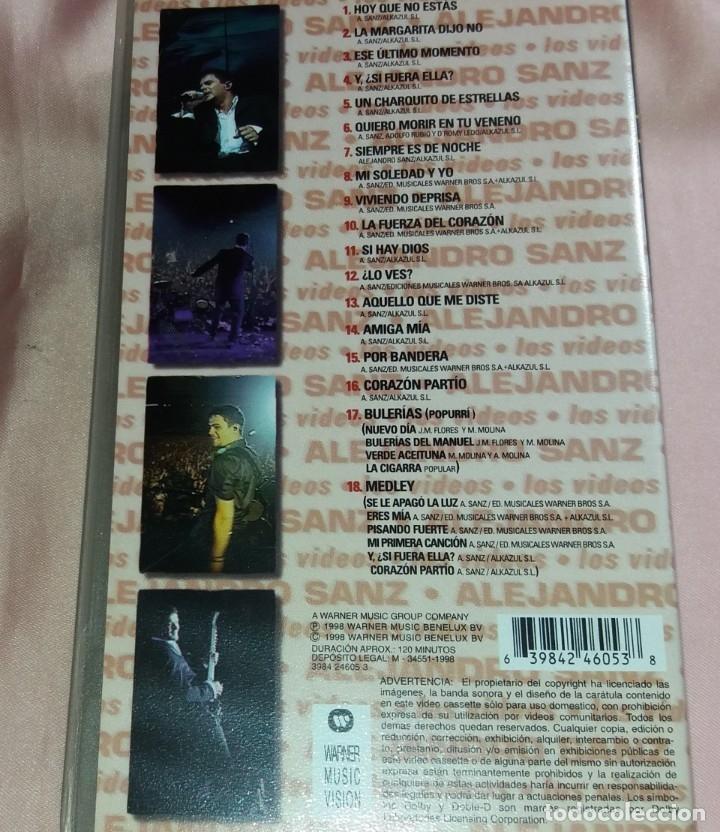 Vídeos y DVD Musicales: alejandro sanz - video vhs - (concierto - tour 98) ver fotos - Foto 2 - 175292999