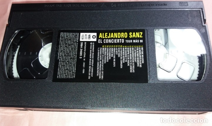 Vídeos y DVD Musicales: alejandro sanz - video vhs - (concierto - tour 98) ver fotos - Foto 3 - 175292999