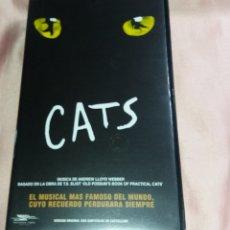 Vídeos y DVD Musicales: CATS - VIDEO VHS (EL MUSICAL MAS FAMOSO DEL MUNDO) VOIR PHOTOS . Lote 175293519