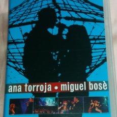 Vídeos y DVD Musicales: MIGUEL BOSE Y ANA TORROJA- VIDEO VHS (CONCIERTO - GIRADOS ) VER FOTOS . Lote 175293819