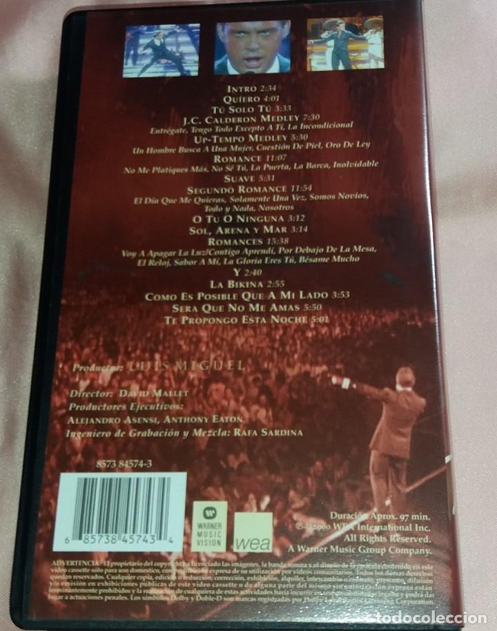 Vídeos y DVD Musicales: luis miguel- video vhs (concierto - vivo ) ver fotos - Foto 2 - 175294008