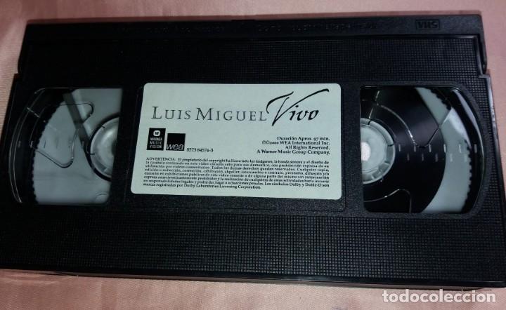 Vídeos y DVD Musicales: luis miguel- video vhs (concierto - vivo ) ver fotos - Foto 3 - 175294008