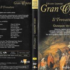 Vídeos y DVD Musicales: IL TROVATORE - GIUSEPPE VERDI - EDICIÓN ESPECIAL GRAN ÓPERA. Lote 175998963