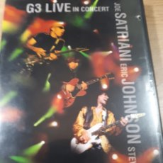 Vídeos y DVD Musicales: G3 LIVE IN CONCERT JOE SATRIANI ERIC JOHNSON STEVE VAI. Lote 176831858