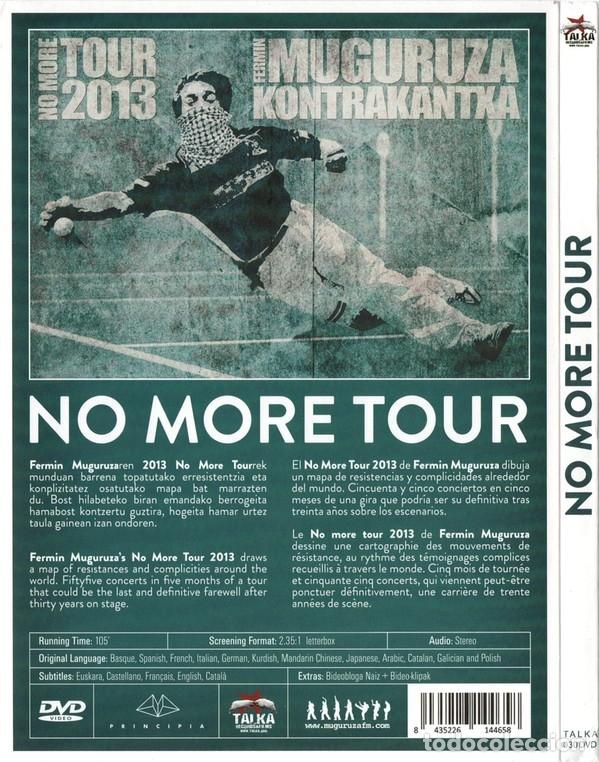 Vídeos y DVD Musicales: FERMIN MUGURUZA - NO MORE TOUR - DVD - Foto 2 - 176946675