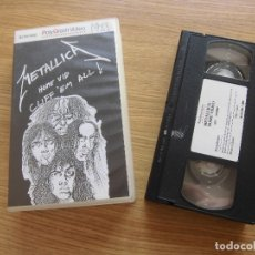 Vídeos y DVD Musicales: METALLICA- THE CLIFFE´M ALL VIDEO VHS. Lote 177060762