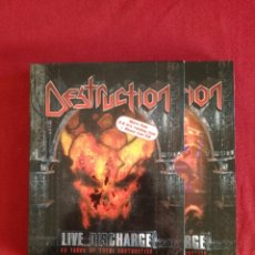 Vídeos y DVD Musicales: DESTRUCTION - LIVE DISCHARGE - CD + DVD - 20 YEARS OF TOTAL - DIGIPACK. Lote 177475038