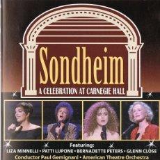 Vídeos y DVD Musicales: SONDEHEIM A CELEBRATION AT CARNEGIE HALL LIZA MINELLI & GLENN CLOSE. Lote 177484207