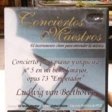 Vídeos y DVD Musicales: DVD CONCIERTOS MAESTROS LUDWIG VAN BEETHOVEN CONCIERTO PARA PIANO Y ORQUESTA N°5 EN MI BEMOL MAYOR. Lote 178058145