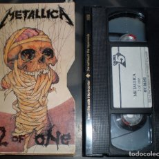 Vídeos y DVD Musicales: METALLICA – 2 OF ONE VHS, UK 1989 THRASH, HEAVY METAL . Lote 178129430