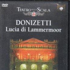 Vídeos y DVD Musicales: DONIZETTI: LUCIA DI LAMMERMOOR. SCALA. . Lote 178176637