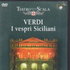 Vídeos y DVD Musicales: VERDI: I VESPRI SICILIANI SCALA. STUDER, ZANCANARO, MUTI. Lote 178308861