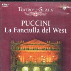 Vídeos y DVD Musicales: PUCCINI: LA FANCIULLA DEL WEST SCALA. PLÁCIDO DOMINGO, MARA ZAMPIERI, JUAN PONS, MAAZEL. Lote 178309016