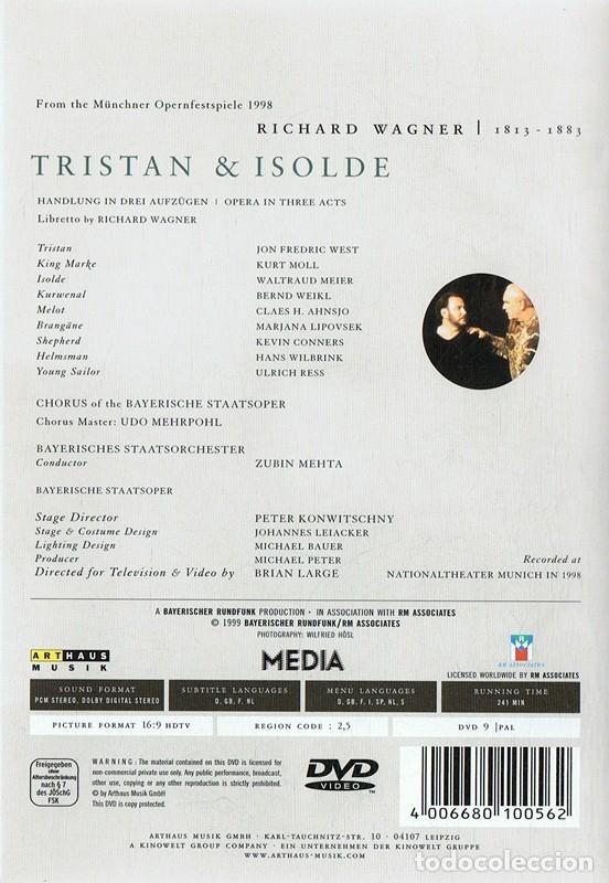 Vídeos y DVD Musicales: TRISTAN& ISOLDE RICHARD WAGNER - Foto 2 - 178335306