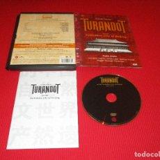 Vídeos y DVD Musicales: TURANDOT AT THE FORBIDDEN CITY OF BEIJING - DVD - CARTONE - 74321 60917 2 - RCA - GIACOMO PUCCINI. Lote 178689765