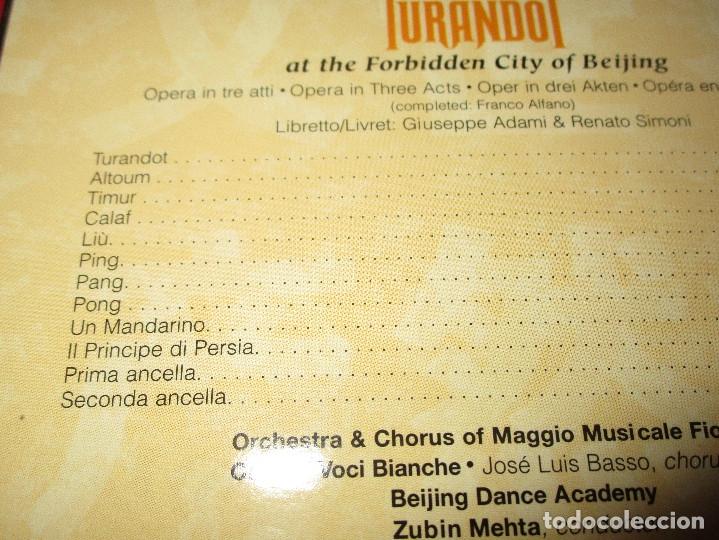 Vídeos y DVD Musicales: TURANDOT AT THE FORBIDDEN CITY OF BEIJING - DVD - CARTONE - 74321 60917 2 - RCA - GIACOMO PUCCINI - Foto 4 - 178689765