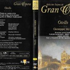 Vídeos y DVD Musicales: OTELLO - GIUSEPPE VERDI - EDICIÓN ESPECIAL GRAN ÓPERA. Lote 178827030
