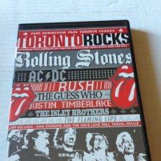 Vídeos y DVD Musicales: DVD MUSICA TORONTO ROCKS ROLLING STONES AC DC RUSH .... Lote 179038771