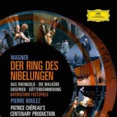 Vídeos y DVD Musicales: EL ANILLO DEL NIVELUNGO RICHARD WAGNER DVD DEUTCHE GRAMMOPHONS 5 DVD . Lote 179041283