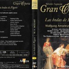 Vídeos y DVD Musicales: LAS BODAS DE FÍGARO - WOLFGANG AMADEUS MOZART - EDICIÓN ESPECIAL GRAN ÓPERA. Lote 179203983