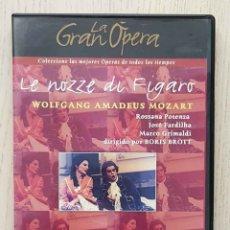 Vídeos y DVD Musicales: LE NOZZE DI FIGARO. WOLFGANG AMADEUS MOZART. (DVD VÍDEO / COL. LA GRAN ÓPERA). Lote 179253236