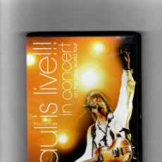 Vídeos y DVD Musicales: PAUL IS LIVE!!! IN CONCERT ON THE NEW WORLD TOUR. Lote 179545460