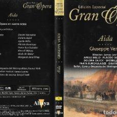 Vídeos y DVD Musicales: AIDA - GIUSEPPE VERDI - EDICIÓN ESPECIAL GRAN ÓPERA. Lote 179554192
