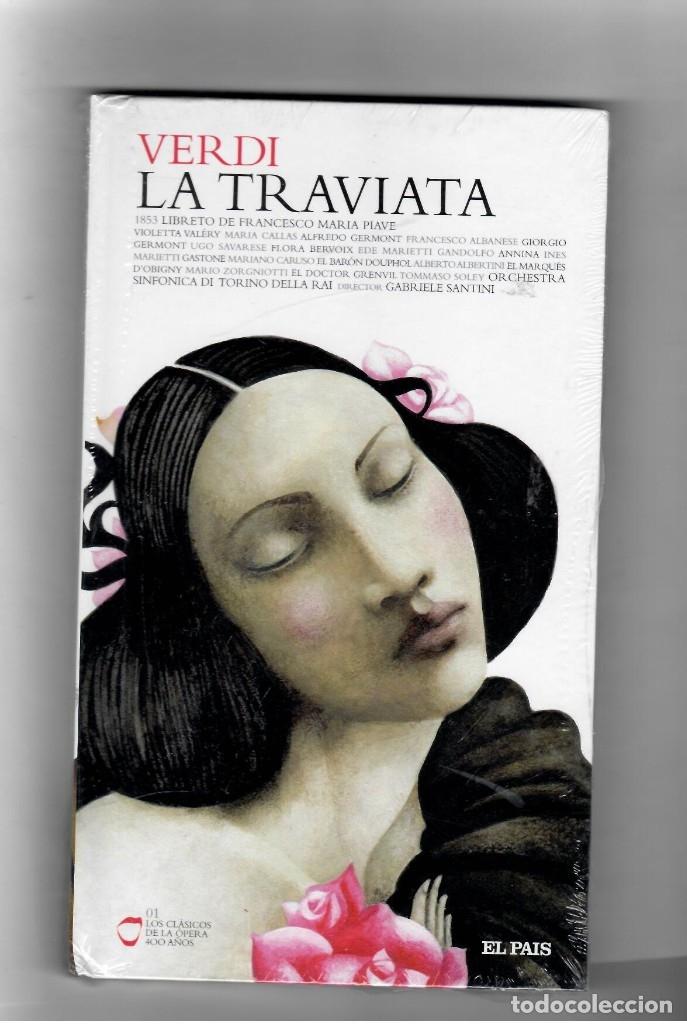 VERDI LA TRAVIATA - LIBRO + 2 CD´S . LOS CLÁSICOS DE LA ÓPERA 400 AÑOS. EL PAIS. 2007. (Música - Videos y DVD Musicales)