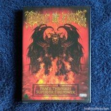 Vídeos y DVD Musicales: CRADLE OF FILTH - PEACE THROUGH SUPERIOR FIREPOWER DVD NUEVO Y PRECINTADO - BLACK METAL GOTHIC METAL. Lote 180044553