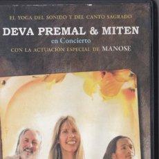 Vídeos y DVD Musicales: DEVA PREMAL & MITEN EN CONCIERTO - DVD TOUR 2008. Lote 180101267