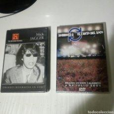 Vídeos y DVD Musicales: DOS DVD MICK JAGGER Y HOMBRES G EL CANTO DEL LOCO NUEVOS PRECINTADOS SIN USO. Lote 180198283