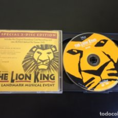 Vídeos y DVD Musicales: EL REY LEÓN MUSICAL EDICIÓN ESPECIAL CD Y DVD BROADWAY NEW YORK. Lote 193779268