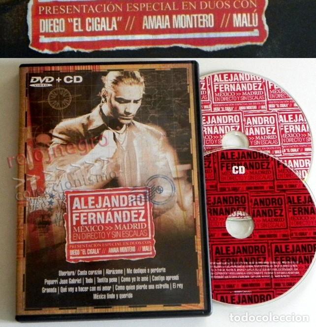 DVD + CD ALEJANDRO FERNÁNDEZ CONCIERTO MÚSICA POP RANCHERA MEJICANO - MALÚ DIEGO EL CIGALA A MONTERO (Música - Videos y DVD Musicales)