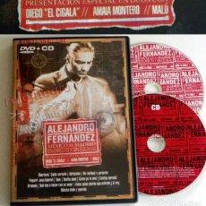Vídeos y DVD Musicales: DVD + CD ALEJANDRO FERNÁNDEZ CONCIERTO MÚSICA POP RANCHERA MEJICANO - MALÚ DIEGO EL CIGALA A MONTERO. Lote 180387961