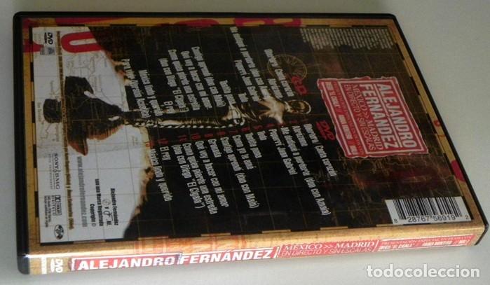 Vídeos y DVD Musicales: DVD + CD ALEJANDRO FERNÁNDEZ CONCIERTO MÚSICA POP RANCHERA MEJICANO - MALÚ DIEGO EL CIGALA A MONTERO - Foto 3 - 180387961