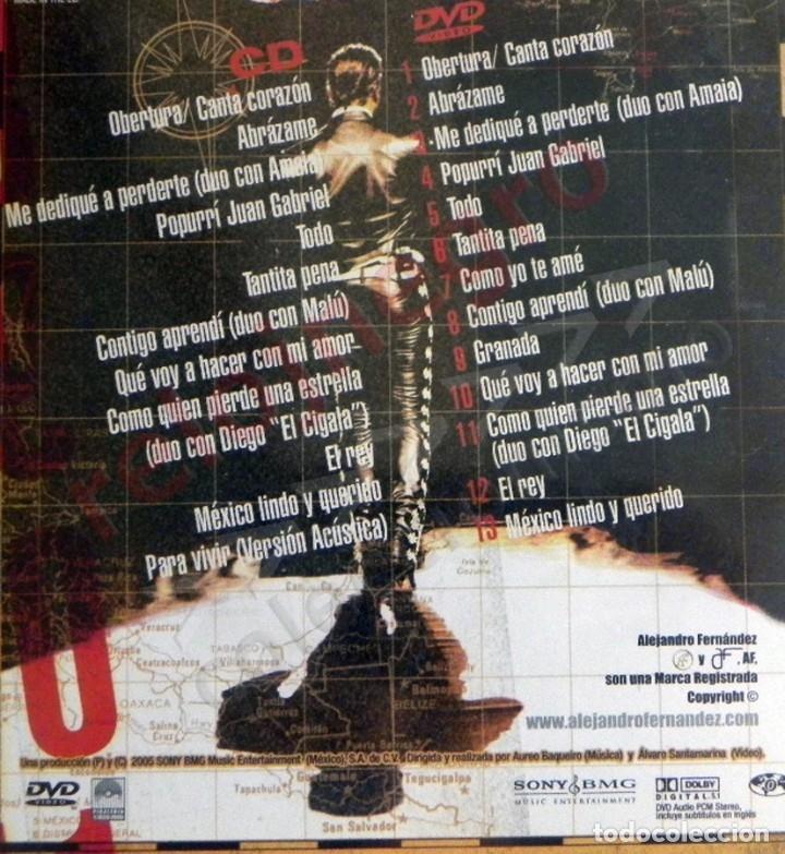 Vídeos y DVD Musicales: DVD + CD ALEJANDRO FERNÁNDEZ CONCIERTO MÚSICA POP RANCHERA MEJICANO - MALÚ DIEGO EL CIGALA A MONTERO - Foto 2 - 180387961
